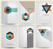 Cover design. Whit modern geometry flat illustration Vector Illustration