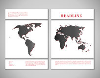 Cover design with world map Stock Photos