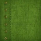 Cover with gold clip and braid. Design album for St. Patrick's Day stock illustration