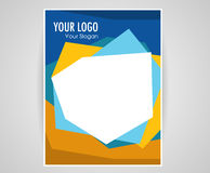 Cover layout design Brochure Flyer template design, book cover Stock Photos