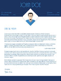 Cover letter design with blue white colors Stock Photo
