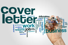 Cover letter word cloud Royalty Free Stock Photo