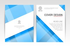 Cover magazine. Layout Cover design template, annual report brochure Royalty Free Stock Photography
