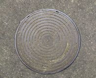 Cover of a manhole. From ex-USSR Royalty Free Stock Images