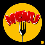 Cover menu Royalty Free Stock Photography