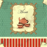 Cover menu in vintage style Royalty Free Stock Image