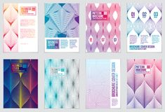 Cover with minimal designs. Web, commerce or events vector graph. Ic design templates set. Vector geometric patterns used in modern designs. Minimalistic Royalty Free Stock Images