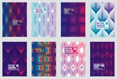 Cover with minimal designs. Web, commerce or events vector graph. Ic design templates set. Vector geometric patterns used in modern designs. Minimalistic Stock Image