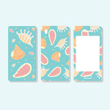 Cover and mobile phone display decorated with seashells Royalty Free Stock Photos