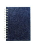 Cover of a notebook. Notebook with a cover from a jeans fabric Royalty Free Stock Photos