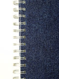 Cover of a notebook. Notebook with a cover from a jeans fabric Stock Image