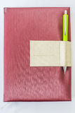 Cover notebook and pencil Stock Photos