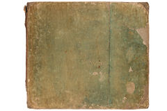 Cover of old book. Ragged cover of old book, isolated on white background Royalty Free Stock Images