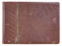 Cover old red photo album for photos royalty free stock photo