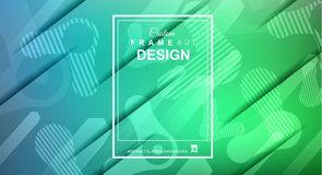 Free Cover Or Flyer Layout With Geometric Colorful Background With Hi Stock Images - 118862214