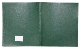 The cover of an ordinary student`s notebook is made of green  ar Royalty Free Stock Photography