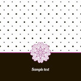 Cover, Oriental-style card. Cute picture dots Stock Photos