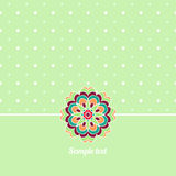 Cover, Oriental-style card. Cute picture dots Stock Photo