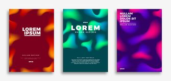 Cover page design, Creative gradients background. Vector illustration template Stock Photography