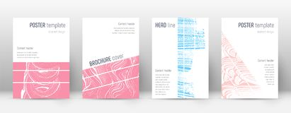 Cover page design template. Geometric brochure lay. Out. Breathtaking trendy abstract cover page. Pink and blue grunge texture background. Awesome poster vector illustration
