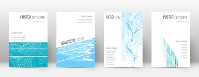 Cover page design template. Geometric brochure layout. Bold trendy abstract cover page. Pink and blu. E grunge texture background. Awesome poster royalty free illustration