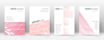 Cover page design template. Geometric brochure layout. Breathtaking trendy abstract cover page. Pink. And blue grunge texture background. Energetic poster stock illustration
