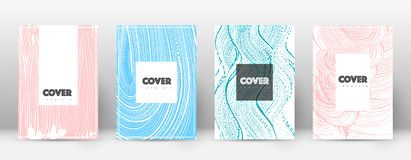 Cover page design template. Hipster brochure layout. Captivating trendy abstract cover page. Pink an. D blue grunge texture background. Awesome poster vector illustration