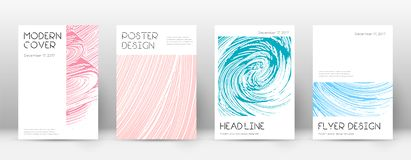 Cover page design template. Minimal brochure layou. T. Classic trendy abstract cover page. Pink and blue grunge texture background. Awesome poster royalty free illustration