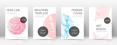 Cover page design template. Trendy brochure layout. Classic trendy abstract cover page. Pink and blu. E grunge texture background. Awesome poster royalty free illustration