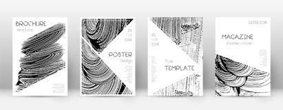 Cover page design template. Triangle brochure layo. Ut. Awesome trendy abstract cover page. Soap invert grunge texture background. Actual poster royalty free illustration