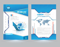 Cover page layout template technology style. Royalty Free Stock Photos