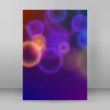 Cover page A4 magazine purple background blur circles Stock Photos