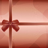 Cover of the present box brown background. Royalty Free Stock Photography