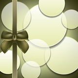 Cover of the present box green background. Stock Image