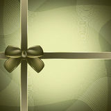 Cover of the present box green background. Royalty Free Stock Photo