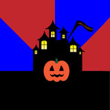 Cover pumpkin red blue projector Royalty Free Stock Image