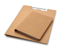 Cover recycle brown book and clipboard Stock Image