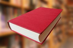 The cover of a red book lying down. For graphic resource Royalty Free Stock Images