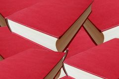 The cover of a red book lying down. For graphic resource Royalty Free Stock Photo
