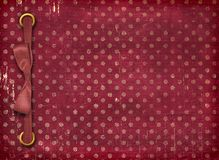 Cover with red bow for photo Royalty Free Stock Photo
