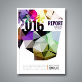 Cover report colorful triangle geometric prospectus design background, cover flyer magazine, brochure book cover. Template layout, vector illustration Royalty Free Stock Images