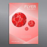 Cover report ruby triangle geometric design background Stock Photography