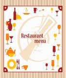 Cover of restaurant menu Royalty Free Stock Image