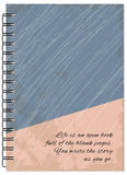 Cover retro design of the notebook Royalty Free Stock Photography