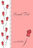 Cover with roses. Background with roses and lace Royalty Free Stock Images
