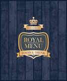Cover royal menu Royalty Free Stock Photo