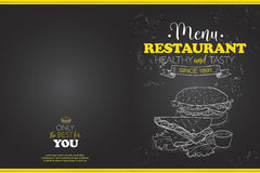 Cover Scetch horisontal menu design Royalty Free Stock Photos