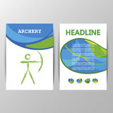 Cover schedule of Archery games. Stock Photo