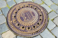 The cover of sewer manhole Stock Images