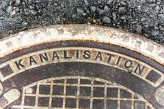 Cover for sewerage Royalty Free Stock Image